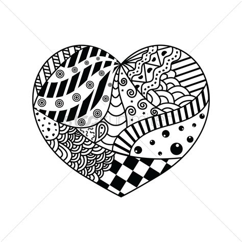 small decorative drawings decorative heart design vector image 1544103