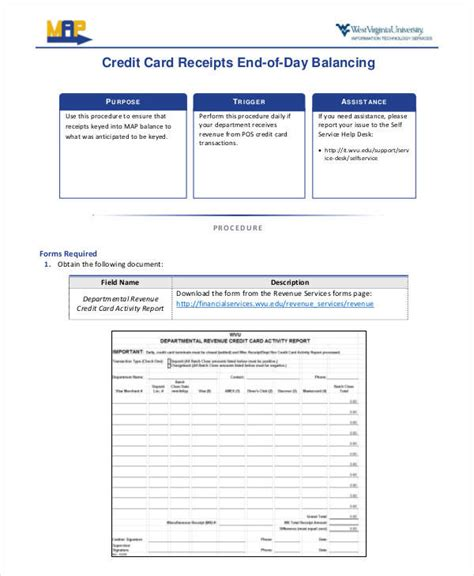 Credit Card Receipt Template Pdf by 7 Credit Card Receipt Templates Pdf Sle Templates