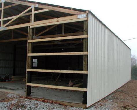 Pole Barn Sliding Doors Wood Working Idea Barn Plans Canada
