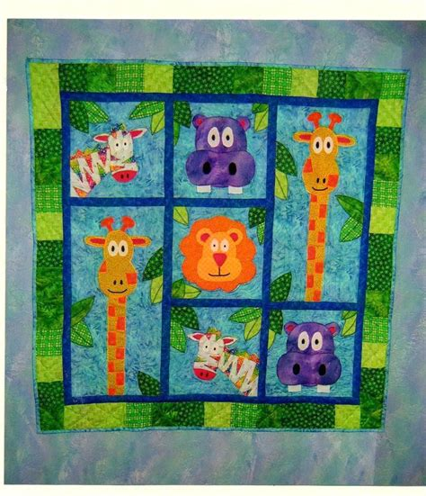 Animal Patchwork Quilt Patterns - zoo animal baby quilt pattern baby animal quilt patterns