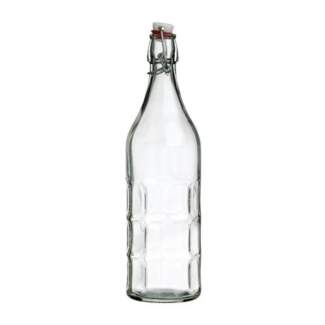 clear glass swing top bottles new modern home 1l 34oz glass round swing top bottle