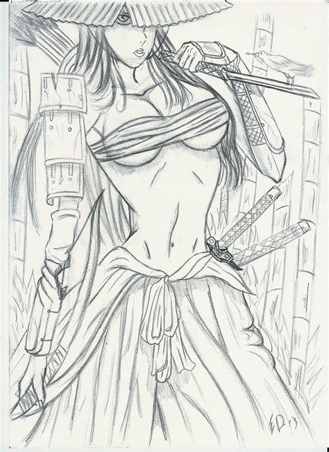 sketch samurai by flaviudraghis on deviantart