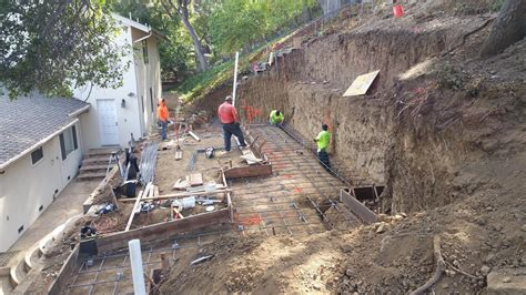backyard excavation excavation and grading for retaining wall time lapse