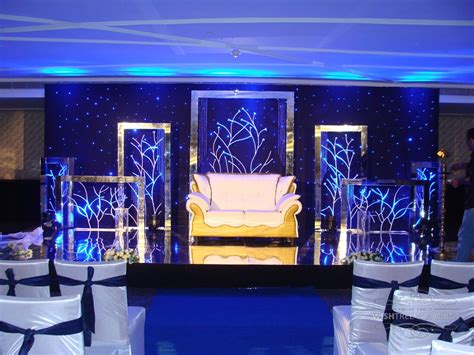 the bold silver and blue theme wedding at le meridien