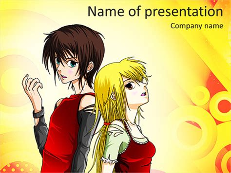 Anime Powerpoint Template Backgrounds Id 0000006882 Smiletemplates Com Anime Template For Powerpoint