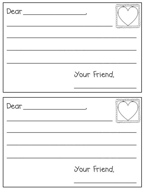 write a letter letter writing paper template for grade free 1746