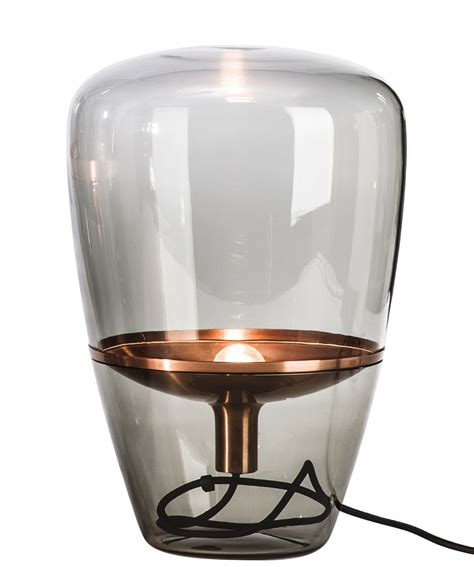 Small Bathroom Dimensions balloon small table lamp smoke glass copper by brokis