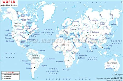 world map of large rivers one tiny drop mayborn science theater