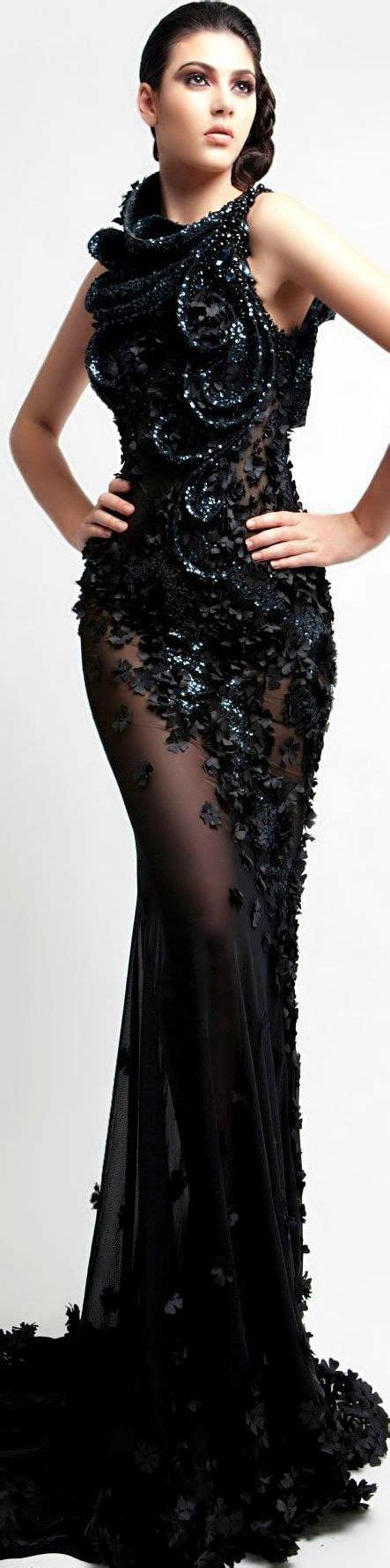 Dress Choco Leo leo almodal haute couture s s 2014 black dress
