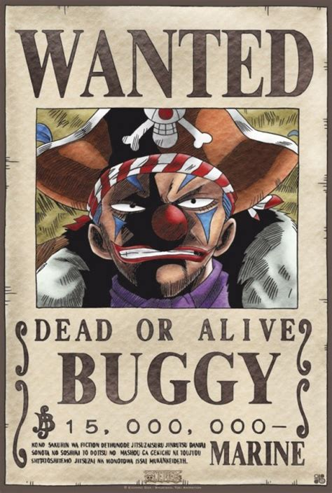 membuat poster wanted one piece poster one piece wanted buggy 52x35 buggy the clown