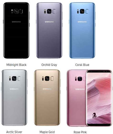 samsung galaxy s8 dan galaxy s8 plus til pink