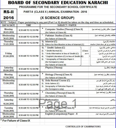 supplementary h s c result 2015 karachi board science 9th 10th matric date sheet 2018