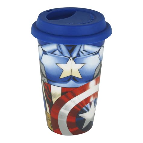 Mug Keramik Ceramic Marvel Original captain america torso ceramic travel mug thermal coffee