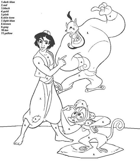 Color By Disney by Color By Number Disney Coloring Pages