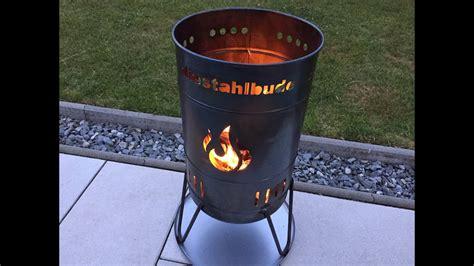 vorstellung die stahlbude feuerkorb mit grillrost und