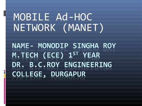 mobile ad hoc network manet mobile ad hoc network manet