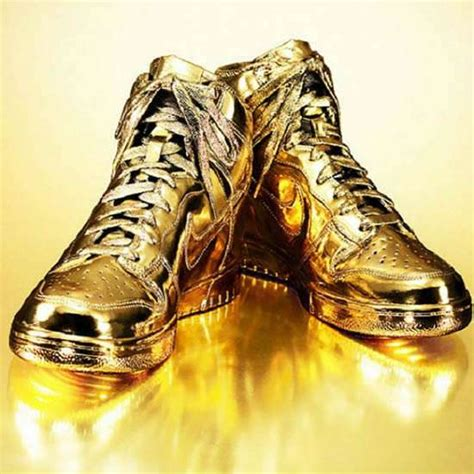 glamorously golden sneakers gold dipped shoes