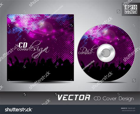 cd cover presentation design template copy stock vector