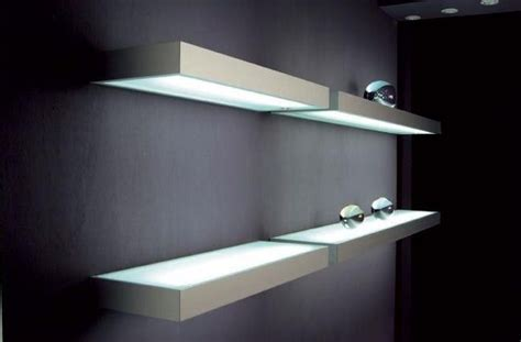floating kitchen shelves with lights led floating glass shelves led cabinet light supplier