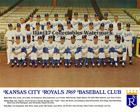 Order Sekarang Baseball Coklat Ks 37 1969 kansas city royals inaugural team 8x10 photo ebay