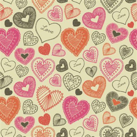 valentine pattern vector valentines day heart seamless pattern vectors 14 vector