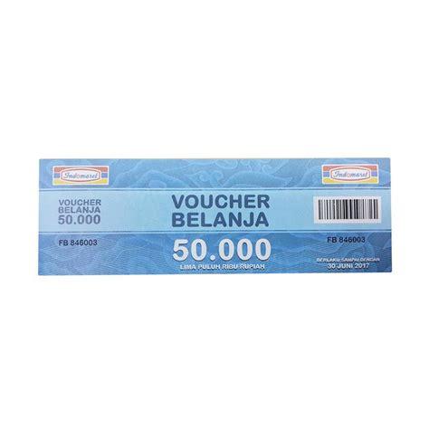 Indomaret Voucher Rp 50 000 jual indomaret paket belanja physic voucher rp 1 000 000