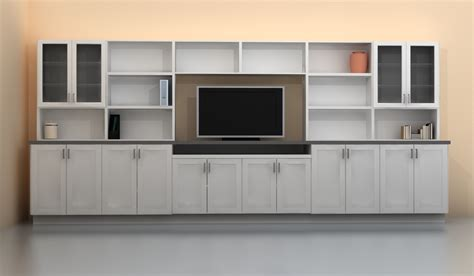 Entertainment Unit Design by A Wall Storage Unit As A Problem Solver