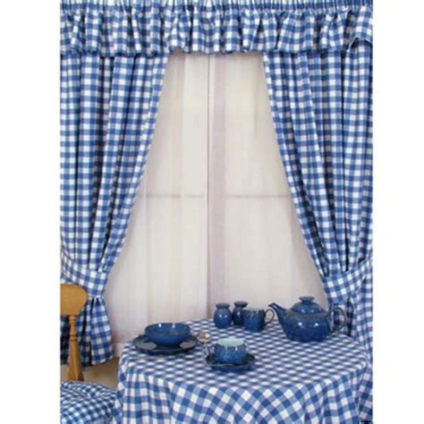 blue gingham curtains furniture ideas deltaangelgroup