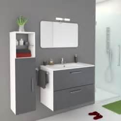 meuble de salle de bains de 80 224 99 gris argent happy