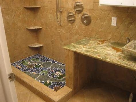 unique bathroom floor tiles bathroom furniture ideas