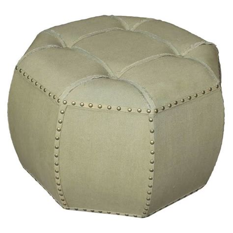 octagon ottoman octagonal tufted indoor ottoman in sage 52b 12b038 sg