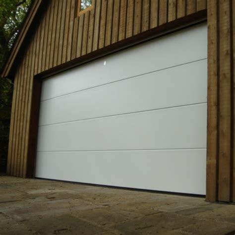 Garage Doors On Line Flush Smooth White Iso45 Steel Sectional Door Sectional Garage Door At Garage Doors