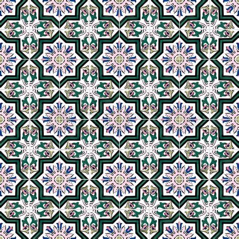 tile pattern ancient temple kotor seamless tile pattern of ancient ceramic tiles stock