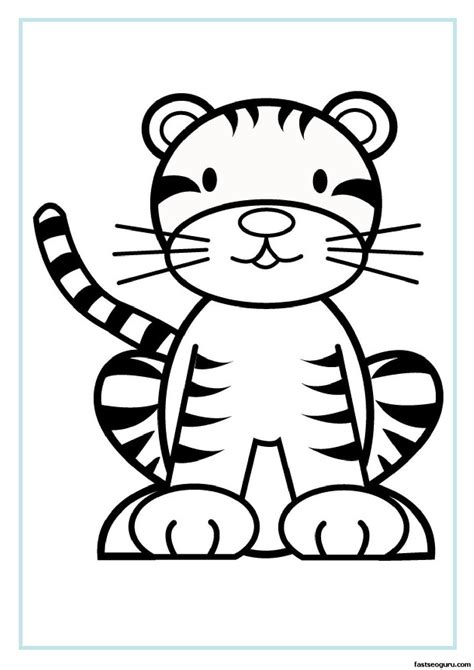 Coloring Pages Of Baby Tigers by Coloring Pages Of Baby Tigers Www Pixshark Images