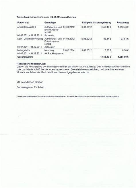 Mahnung Vorlage Ware Nicht Erhalten Mahnung Ba Erhalten 252 Ber Nicht Bestehende Forderung Erwerbslosen Forum Deutschland Elo Forum