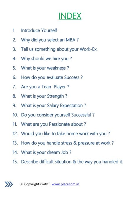 Mba Tell Me About Youself by 40 Most Asked Questions With Answers