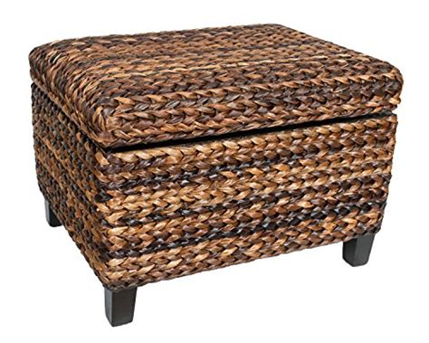Ottoman Hinges Birdrock Home Woven Seagrass Storage Ottoman With Safety Hinges Furniture Ottomans Ottomans
