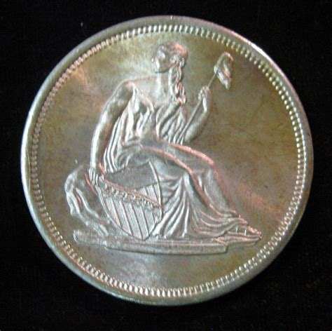 1 Troy Ounce Silver - 28 liberty seated dollar design one troy ounce 999