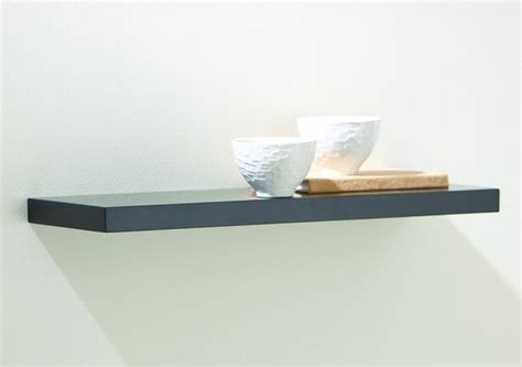 black slim line floating shelf 24w in sl24b