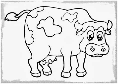 imagenes para colorear vaca imagen linda de la vaca para colorear imagenes de vacas