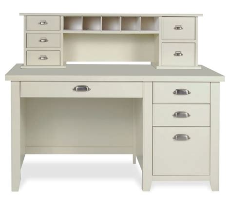 White Desk With Hutch And Drawers White Desk With Small Hutch And Drawers I Like The Drawer Pulls Living Room Home Office