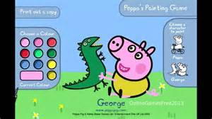 peppa pig games peppa painting game