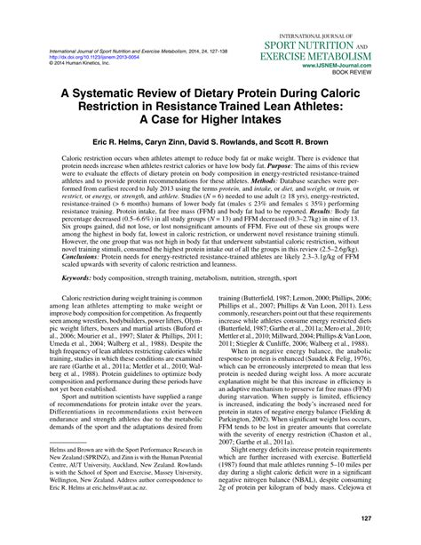 systematic review  dietary protein  caloric restriction  resistance trained