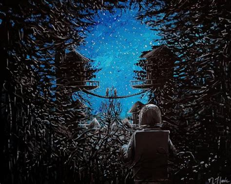acrylic painting reddit my acrylic painting of astronauts on a forest