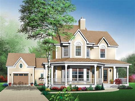 country home house plans with porches and bay window country house