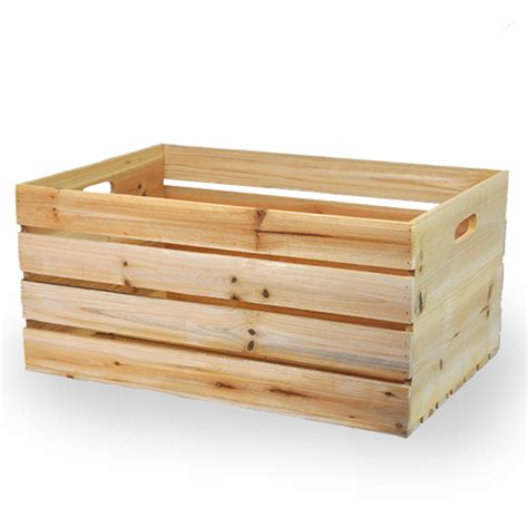 large wooden crates wooden storage crate with in handles large the lucky clover trading co