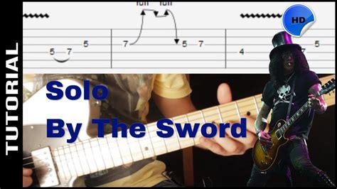 by the sword by slash solo lesson with tabs guns n rosesguns n como tocar el solo de by the sword slash tutorial de