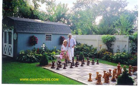 backyard chess set outdoor wooden garden chess for gardens