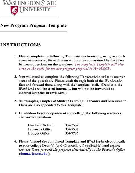 program proposal template download free premium