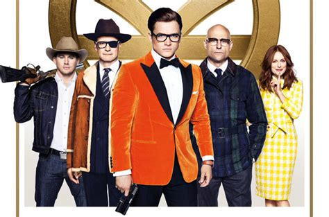 kingsman the golden circle kingsman the golden circle poster brings the cast together
